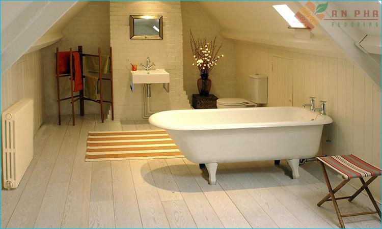 Sàn gỗ nhà tắm của đại lý sàn gỗ An Pha
