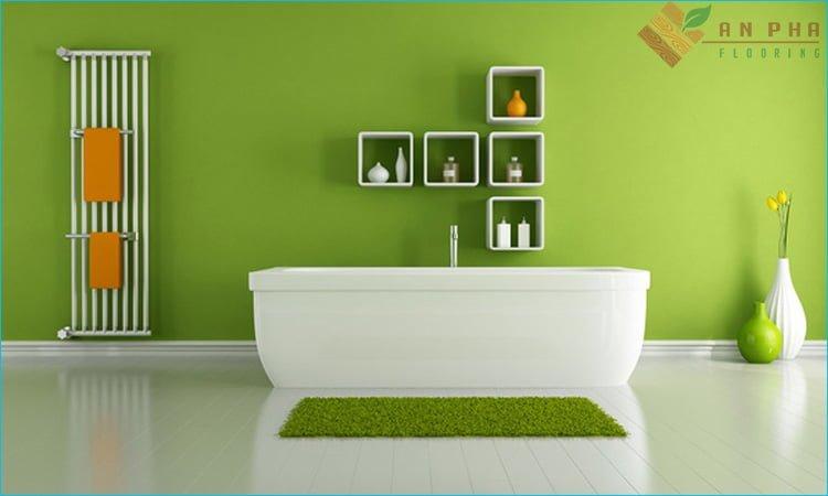 Sơn lại màu phòng tắm