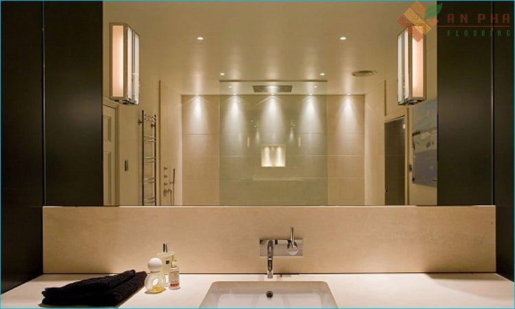 Trang bị các ánh đèn mini cho phòng tắm