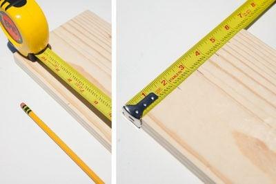 Vị trí đo dùng để cưa định hình mảnh gỗ
