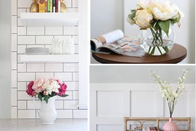 Bố trí bình cắm hoa - 1 cách để trang trí phòng khách nhỏ tiện dụng nhưng đơn giản
