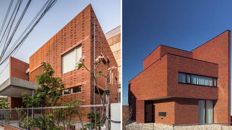 Kiến trúc ốp tường bằng gạch độc đáo ở nước ngoài