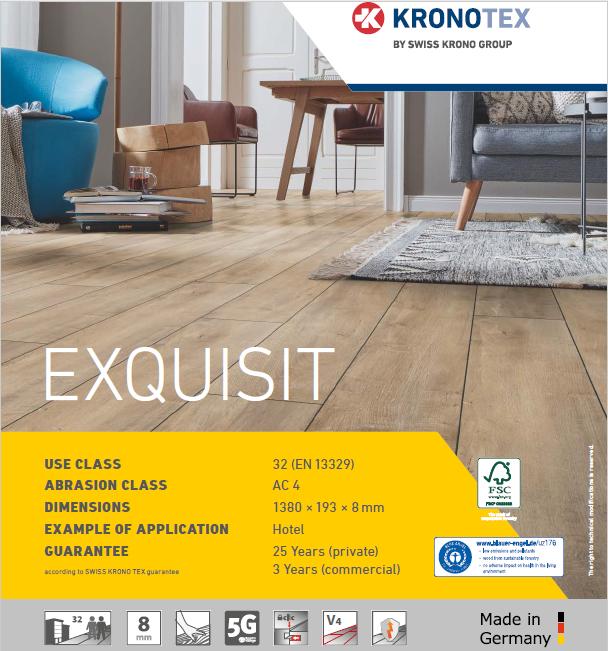 Giá bán sàn gỗ Kronotex Exquisit tại Sàn Gỗ An Pha